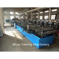 15 KW CZ Purlin Roll Forming Equipment For Big Warehouse Hydraulic Punching And Cutting