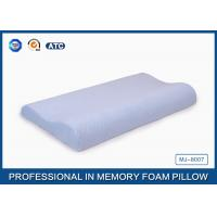 Light Blue Breathable Child Contour Therapeutic Memory Foam Pillow For Health Care