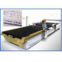 China Continuous Up - Down Cutting Style Not Laser Cloth Cutting Machine 5000kg wholesale