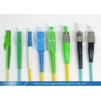 High Reliability Standard Optical Fiber Patch Cord Cable Connectors For Telecom Network