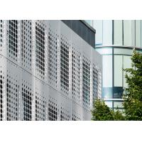 China CNC Perforated Aluminum Panels For Curtain Wall / Facade Decoration wholesale