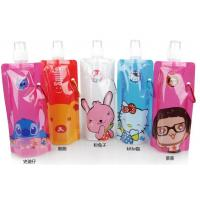 Foldable Spouted Pouches Packaging , Water Bottle Liquid Bags With Spout