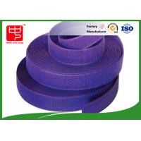Wholesale Purple strong hook and loop adhesive tape hook and loop tape roll for garments from china suppliers
