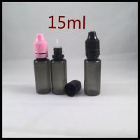 15ml Black PET Plastic Bottles With Childproof Tamper Cap And Long Thin Tip E Liquid Dropper Bottles