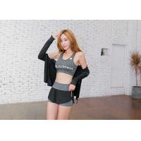Wholesale Grey Color Stretchy Sleeveless Sports Vests Comfortable For Yoga / Running from china suppliers