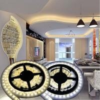 12V Non-waterproof 5050 LED Strip Light for Home Decoration 5M 300 LEDs Warm/Cool White