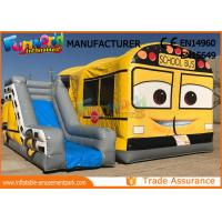 Buy cheap Interactive Inflatable Game Inflatable School Bus Bounce House from wholesalers