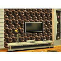 China Mould-Proof Removable Living Room Wallpaper With Geometric Pattern wholesale