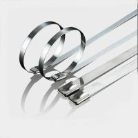 Antirust Uncoated Stainless Steel Ball Lock Cable Ties Use In Power Industry