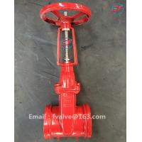 shengfeng high quality ductile iron red color grooved gate valve