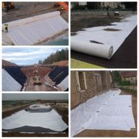 High Construction Nonwoven Geotextile Fabric , Needle Punched Geotextile Weed Barrier