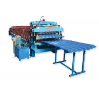 China Metal Roofing Sheet Double Layer Roll Forming Machine By Chain Hydraulic Decoiler wholesale