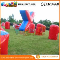 China Customized Color Inflatable Air Bunker 0.6mm PVC Tarpaulin Paintball Inflatable Bunkers wholesale