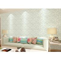 China Non - woven Living Room Wallpaper , Economical modern home wallpaper Floral wholesale