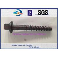 Wholesale 8.8 Grade 45# stainless steel coach screws Spike with Bituminous painted from china suppliers