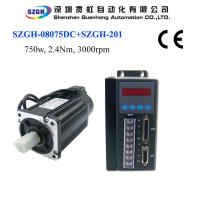 Wholesale 750W 2.4nm 3000rpm Ac Servo Motor And Driver And Amplifier And Cables For Total Solution 220v from china suppliers