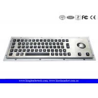 China Illuminated panel-mount Metal keyboard with 65 full travel backlit keys and integrated trackball wholesale