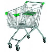 Indoor / Outdoor Supermarket Shopping Trolley Customizable Color With Child Seat