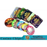 Texas Poker Plastic 760 Pcs Chip Set France Acrylic Casino Dedicated Chips