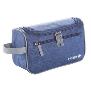 Oxford Fabric Mens Custom Cosmetic Bags , top double metal zipper Make Up Organizer