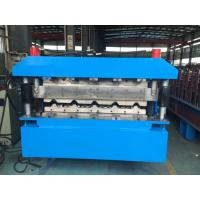 Large Roof Panel Roll Forming Machine 40GP Container By Chain