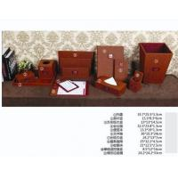 leather desk set in hotel and office or home