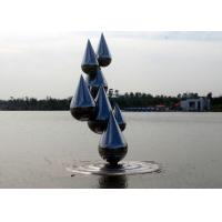 Wholesale Outdoor Abstract Stainless Steel Garden Sculptures , Decoration Metal Garden Ornaments from china suppliers