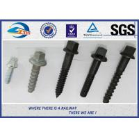 Wholesale Railway Sleeper Screws spike Fasteners 90 degree without crack TUV from china suppliers
