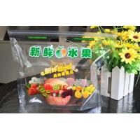 Fruit Protection Stand Up Zipper Pouch Bags , Large Gusseted Food Bags With Air Holes