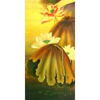 Lacquer Painting Colored lotus