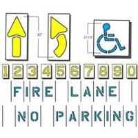 Wholesale Parking Stencil Kit, Standard 9 item from china suppliers