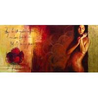 Abstract Nude Lady Oil Painting