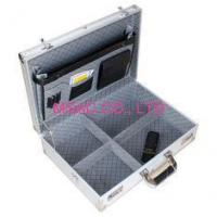 Wholesale Silver Fireproof Mens Aluminum Attache Cases / CD DVD Storage Case With Lock from china suppliers