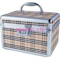 Wholesale Beige Aluminum Cosmetic Cases / ABS Tool Cases For Carry Cosmetic Tool from china suppliers