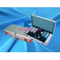 Wholesale Silver Padded Aluminum Poker Chip Carrying Case With Slot For Carry Chipper from china suppliers