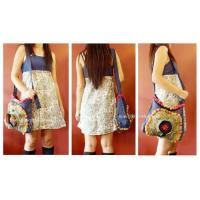 Hemp shoulder bag/Hmong embroidered HB 198