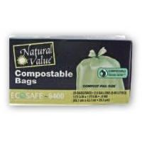 Trash Bags Natural Value Compostable Trash Bags