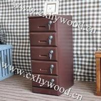 wooden movable office chest of drawers with lockers