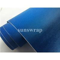 Wholesale Blue Brushed Steel Vinyl Film from china suppliers