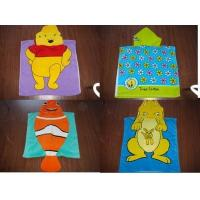 Wholesale 100% Cotton velour reactive printed hooded towel poncho from china suppliers