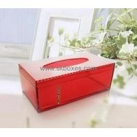 Wholesale Customized acrylic tissue box clear box plastic transport box BTB-085 from china suppliers