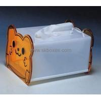 Wholesale Custom design acrylic display box clear plastic tissue box large storage box BTB-144 from china suppliers