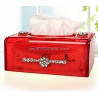 Wholesale Hot selling colored acrylic box storage box mini tissue box BTB-148 from china suppliers