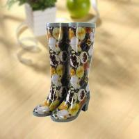 Wholesale Sexy lady flower vase printing rubber rain boot from china suppliers