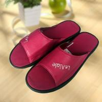 Wholesale Rose red cool Imitation ox-tendon sole leather slipper from china suppliers