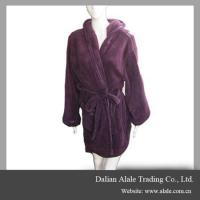 Wholesale winter warm soft purple coral fleece home women bathroom bathrobe from china suppliers