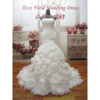 Wholesale WDZ25 Mermaid Lace Up Off The Should Strapless Beading Wedding Dress from china suppliers