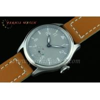 47mm Parnis 6498 Hand Winding Grey Dial White Number Watch