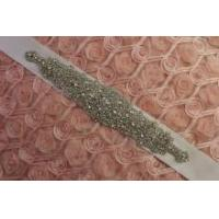 Wholesale DIY Crystal Rhinestone Applique Bridal Sash Motif Silver Beaded & Glass from china suppliers