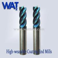 Wholesale 65 HRC Nano-Blue Carbide End Mill Cutter, High Speed Cutter from china suppliers